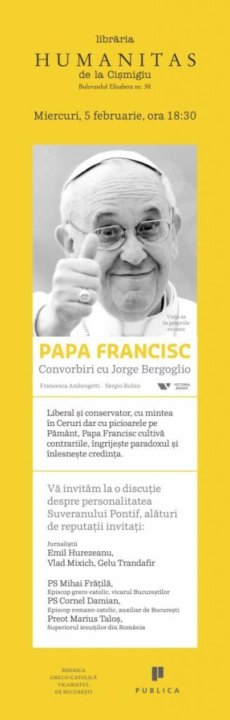 Afis lansare Papa Francisc