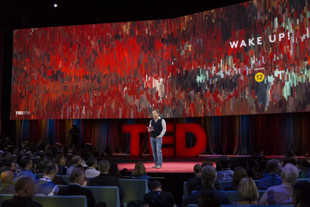 Host Chris Anderson at TED2016 - Dream, February 15-19, 2016, Vancouver Convention Center, Vancouver, Canada. Photo: Marla Aufmuth / TED