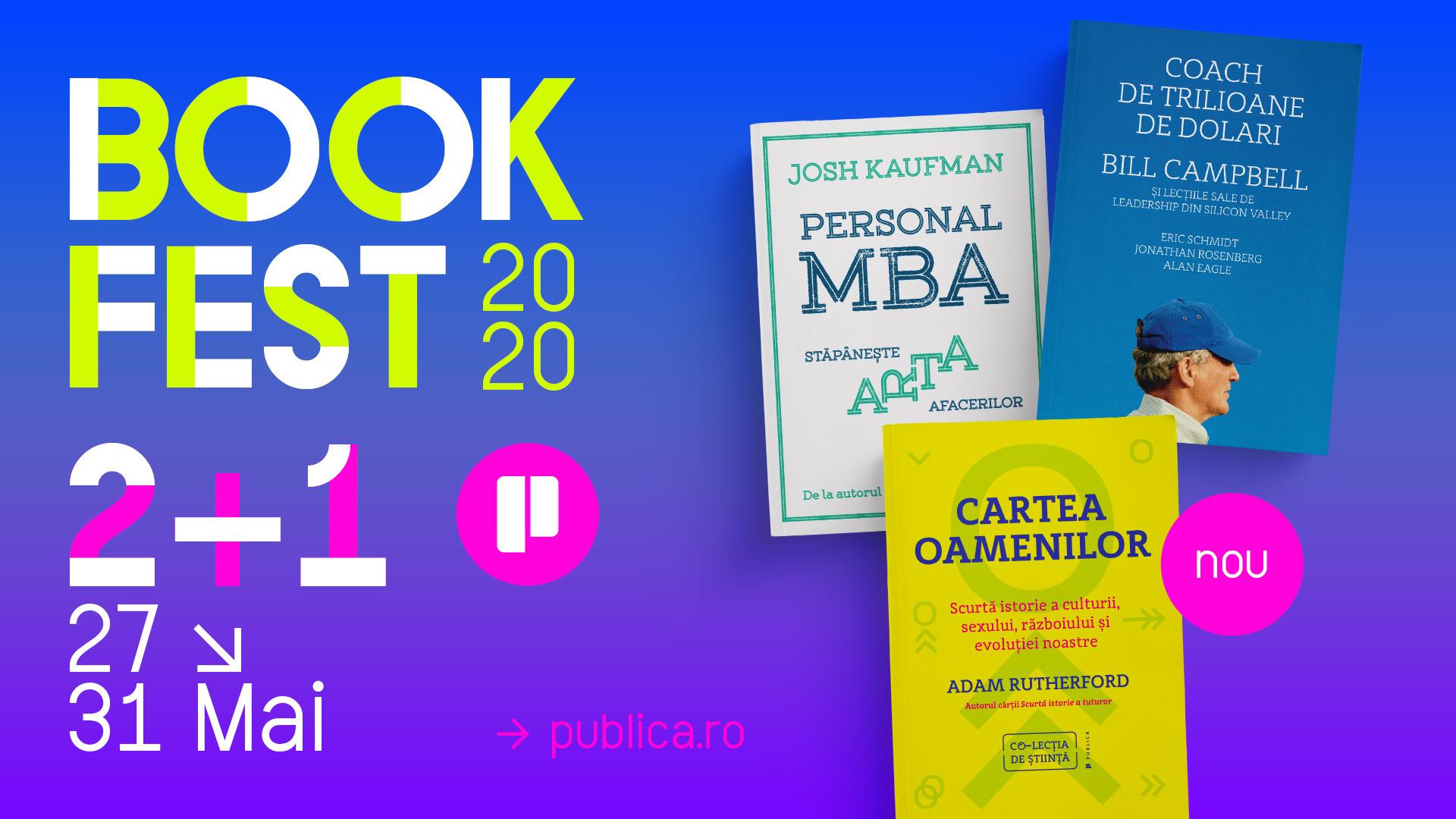 Bookfest 2020: trei cărți noi și o ofertă bună